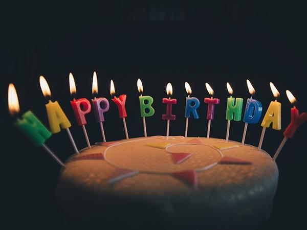 Geburtstag Aktion